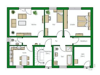 Zürich von HELMA Eigenheimbau Grundriss 1