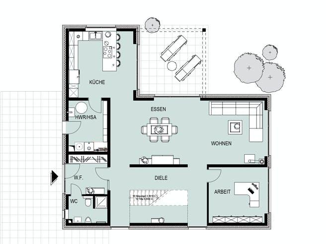 Davensberg von HelSti Massivhaus Grundriss 1