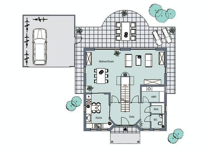 Florenz von HelSti Massivhaus Grundriss 1