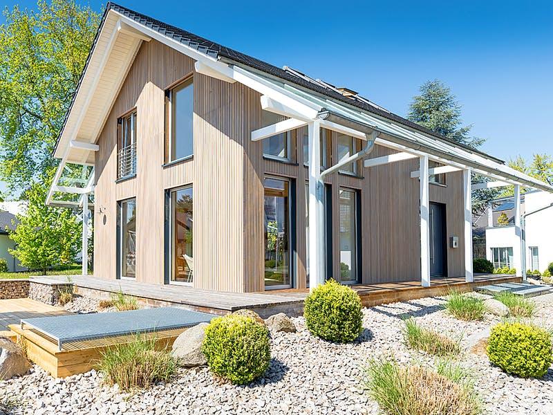 Satteldachhaus aus Holz von Holminghaus