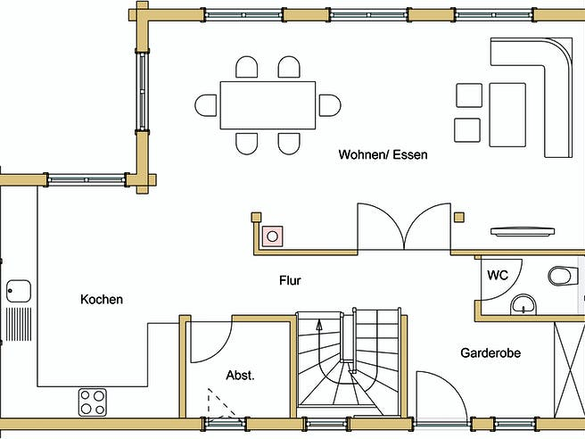 Görlitz B138 von Frammelsberger HOLZHAUS Grundriss 1