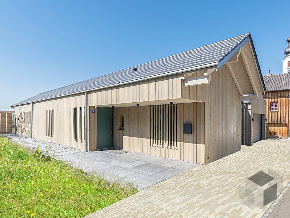 Alpenblick von Huber Holzbau Außenansicht