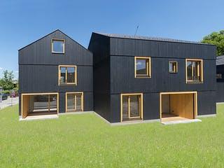 Black von Huber Holzbau Außenansicht 1