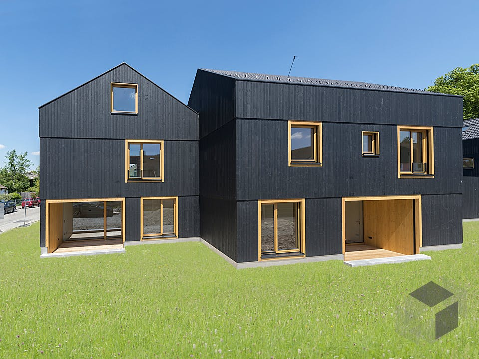 Black von Huber Holzbau Außenansicht