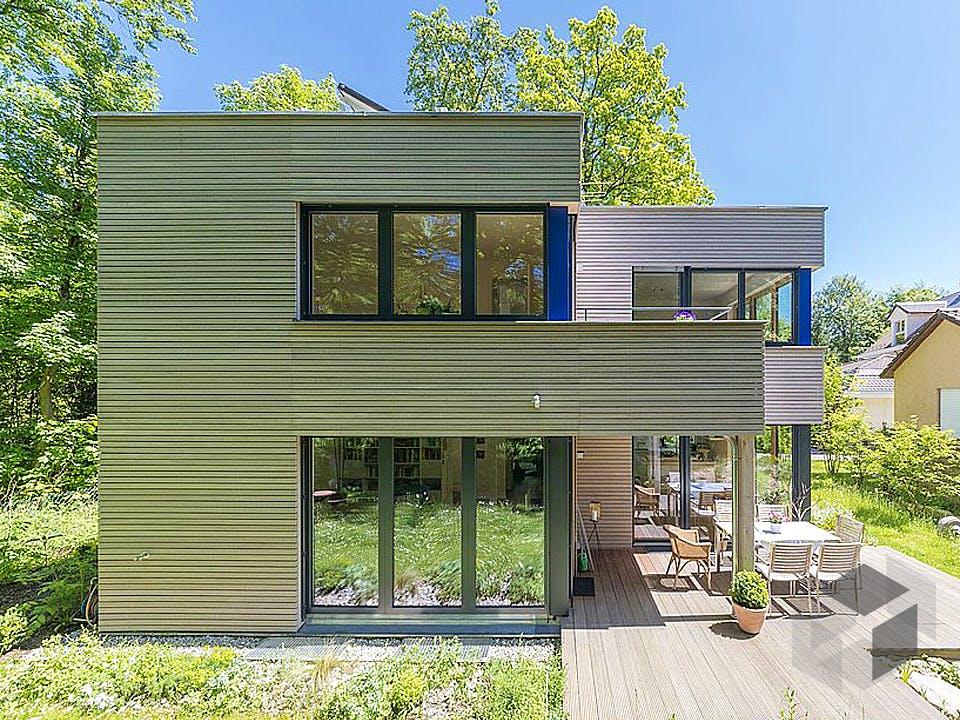 Gartenblick von Huber Holzbau Außenansicht
