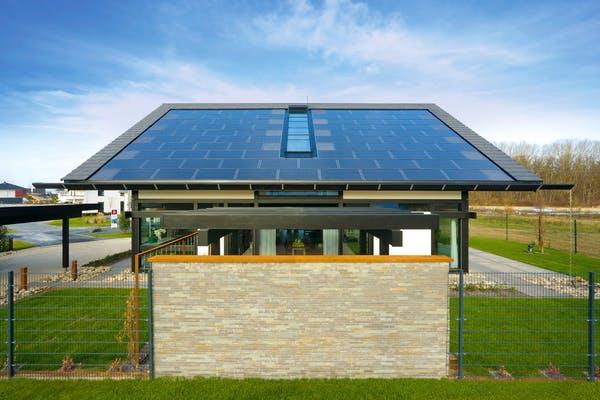 Energiesparhaus mit Solardach
