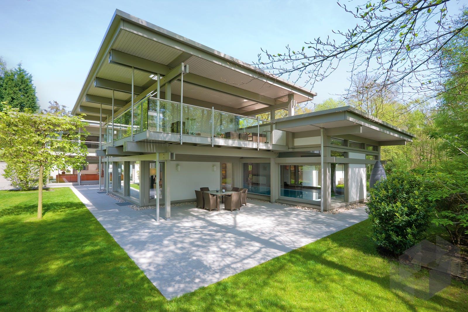 Huf haus mit flachdach von huf haus komplette for Haus modern flachdach