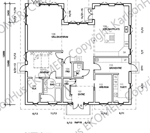 Humlebacken Floorplan 1