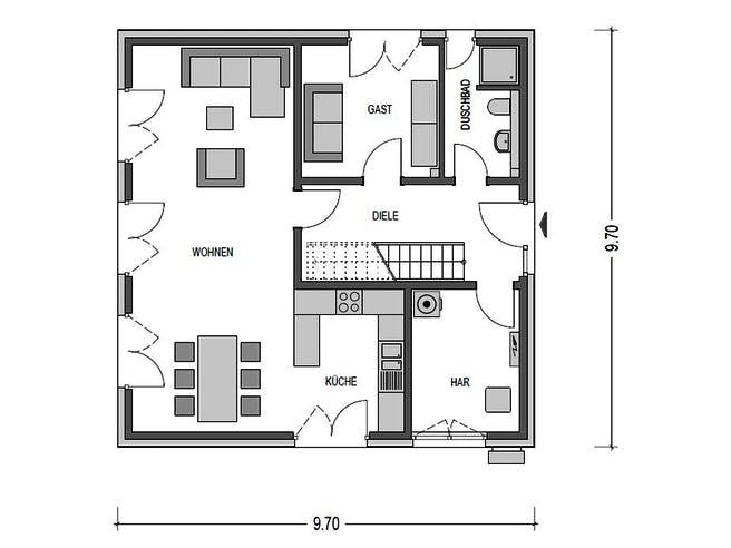 Arcus 140 von Heinz von Heiden Massivhäuser Grundriss 1