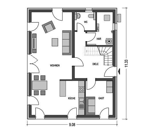 HvH - Alto 630 Floorplan 1