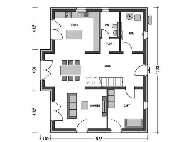 Alto 740 von Heinz von Heiden Massivhäuser Grundriss 1