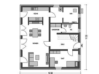 Alto F10 von Heinz von Heiden Massivhäuser Grundriss 1