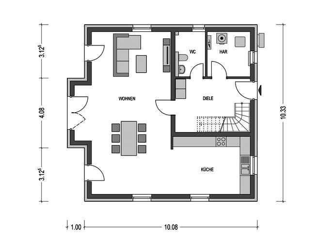 Alto H10 von Heinz von Heiden Massivhäuser Grundriss 1