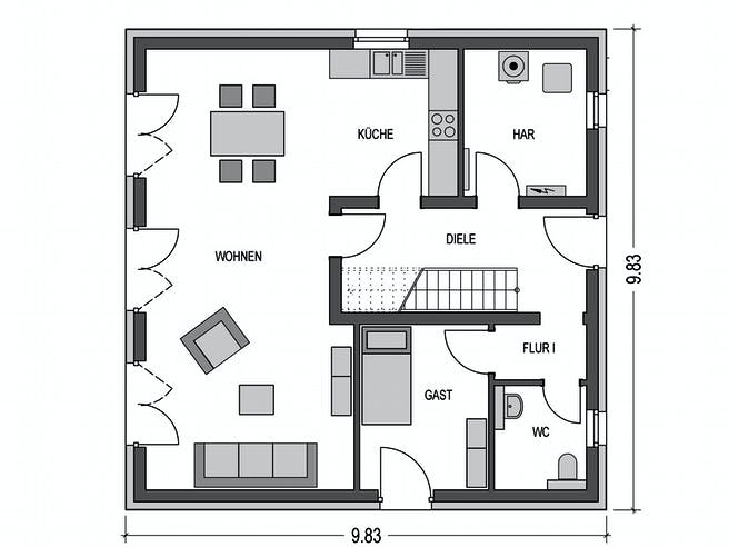 Arcus 150 von Heinz von Heiden Massivhäuser Grundriss 1
