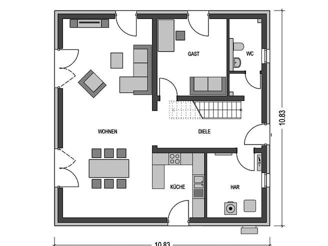 Arcus B10 von Heinz von Heiden Massivhäuser Grundriss 1
