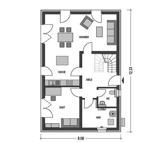 HvH - Calvus 340 Floorplan 1