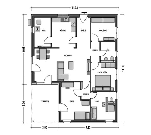 HvH - Dumulus 961 Floorplan 1