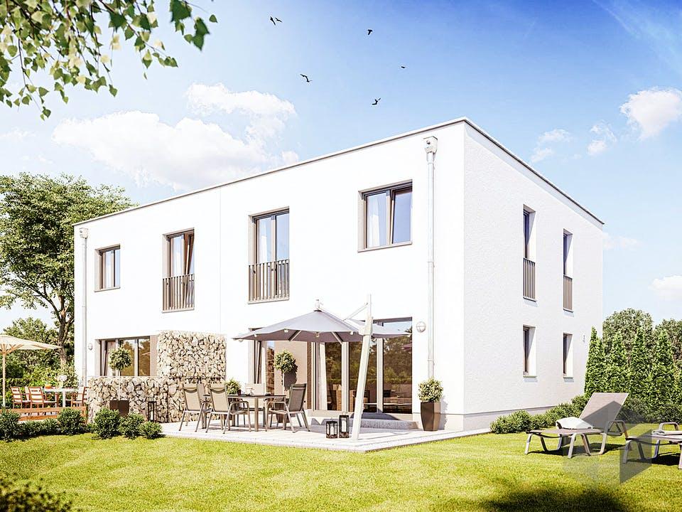 Doppelhaus F 550 von Heinz von Heiden Massivhäuser Außenansicht