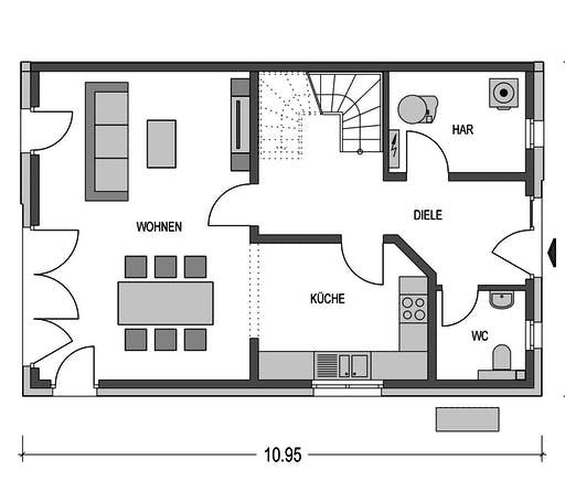 HvH - Doppelhaus L10 Floorplan 1
