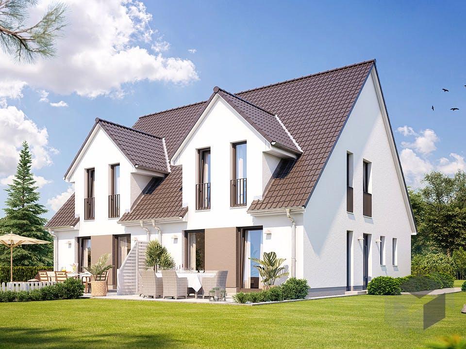 Doppelhaus S 360 von Heinz von Heiden Massivhäuser Außenansicht
