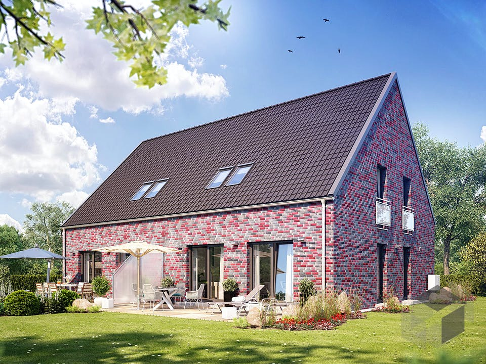 Doppelhaus S 650 von Heinz von Heiden Massivhäuser Außenansicht