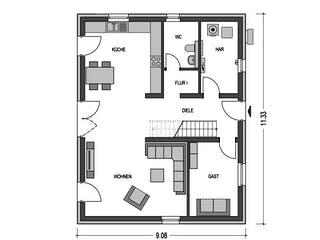 Effizienzhaus C63 von Heinz von Heiden Massivhäuser Grundriss 1