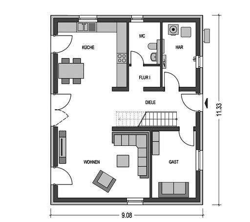 HvH - Effizienzhaus C63 Floorplan 1