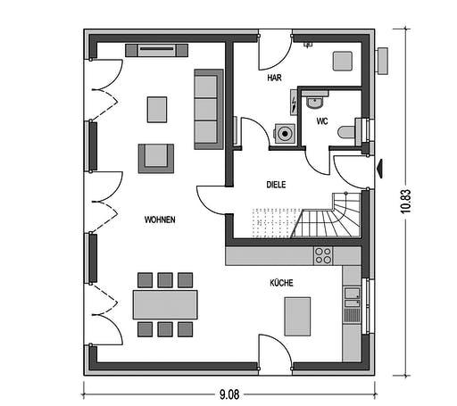 HvH - Effizienzhaus S62 Floorplan 1