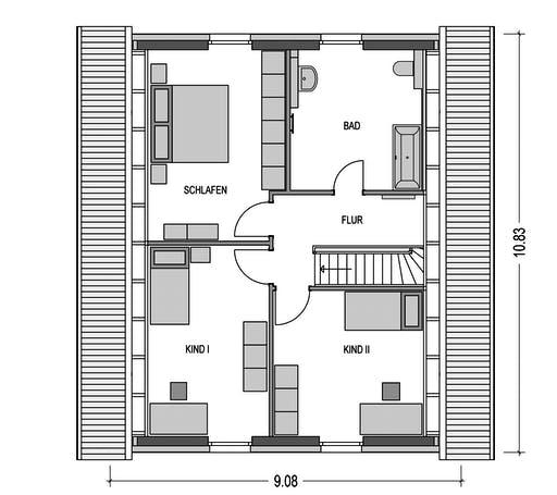 HvH - Effizienzhaus S62 Floorplan 2