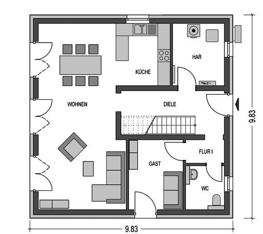 HvH - Effizienzhaus V15 Floorplan 1
