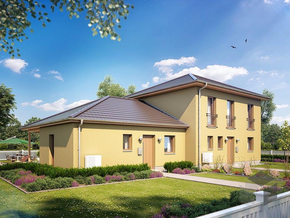 Zweifamilienhaus 130 von Heinz von Heiden Massivhäuser Außenansicht