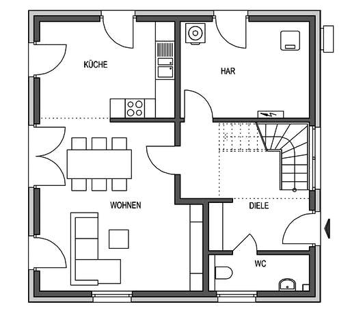 HVO - Eleganz 1000.2 Floorplan 1