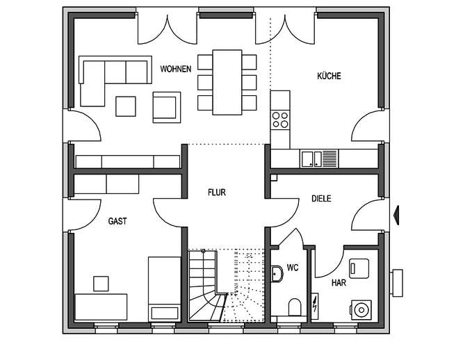 HVO - Eleganz 1158.STV Floorplan 1