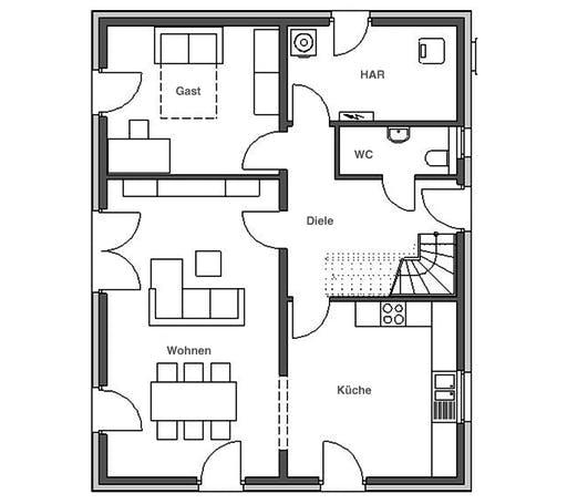 HVO - Klassik 1000.2 Floorplan 1