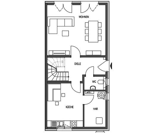 HVO - Klassik 1101.RH Floorplan 1
