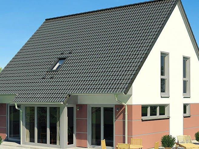 KLASSIK 1190.2F von HVO Massivhaus Außenansicht 1