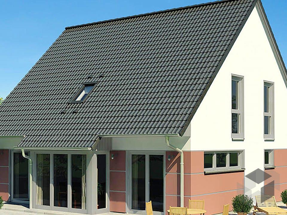 KLASSIK 1190.2F von HVO Massivhaus Außenansicht