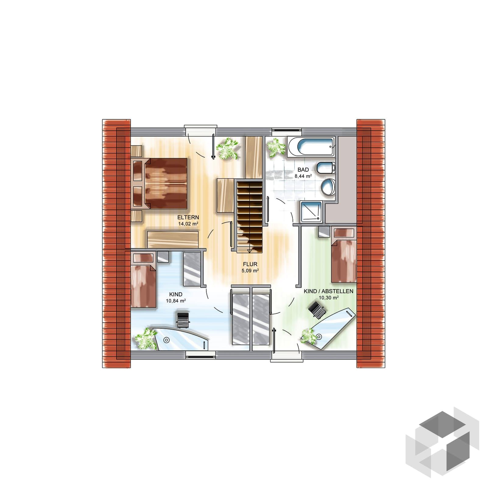 icon tre von dennert massivhaus klassisch. Black Bedroom Furniture Sets. Home Design Ideas