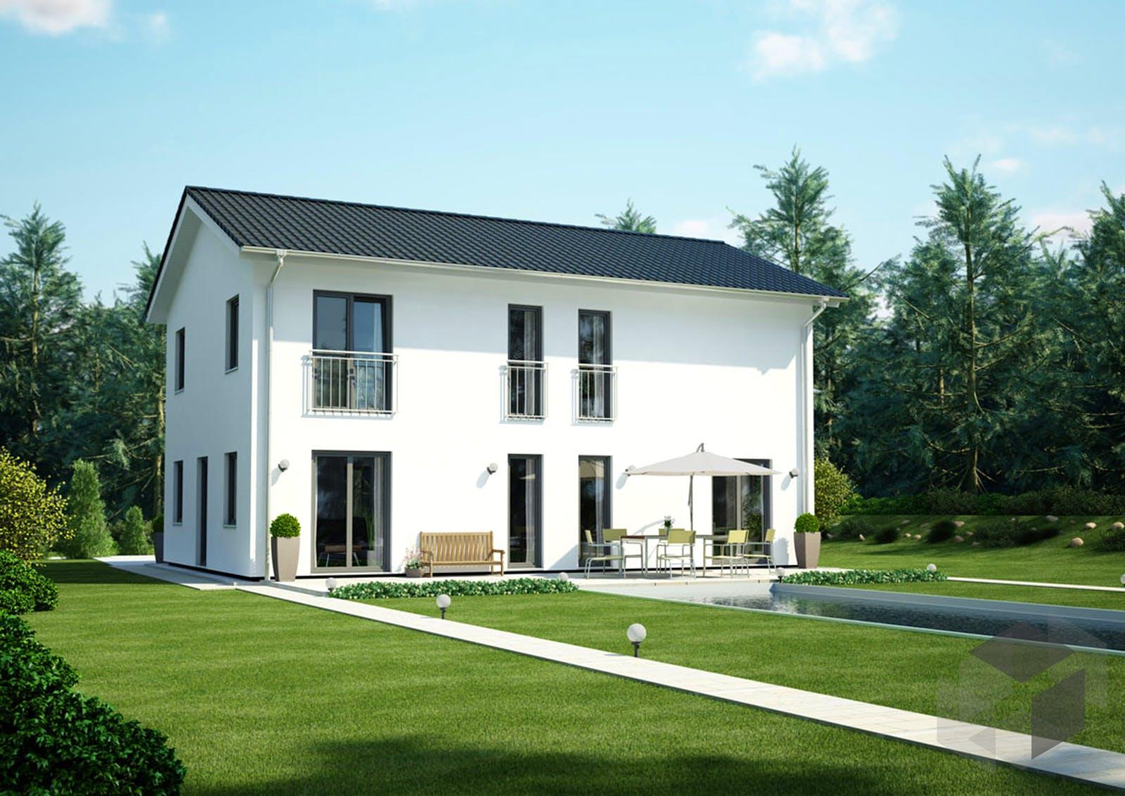 icon 4 city mit satteldach von dennert massivhaus komplette daten bersicht. Black Bedroom Furniture Sets. Home Design Ideas
