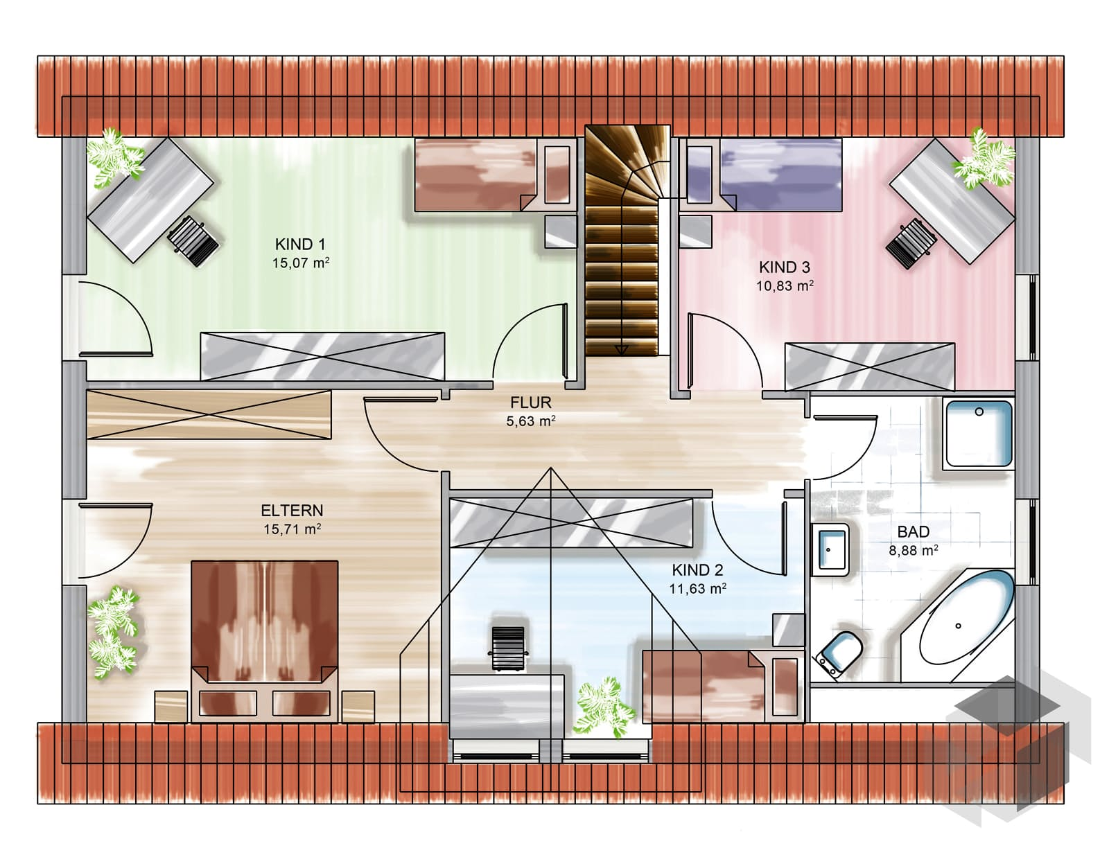 icon tre mit satteldach von dennert massivhaus. Black Bedroom Furniture Sets. Home Design Ideas