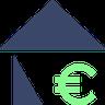 Haus mit Euro Icon
