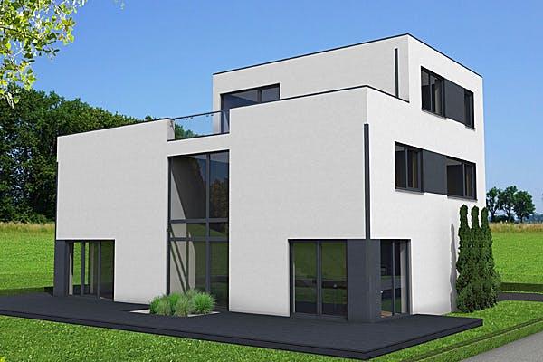 Weißes Kubushaus von IM.Designhaus