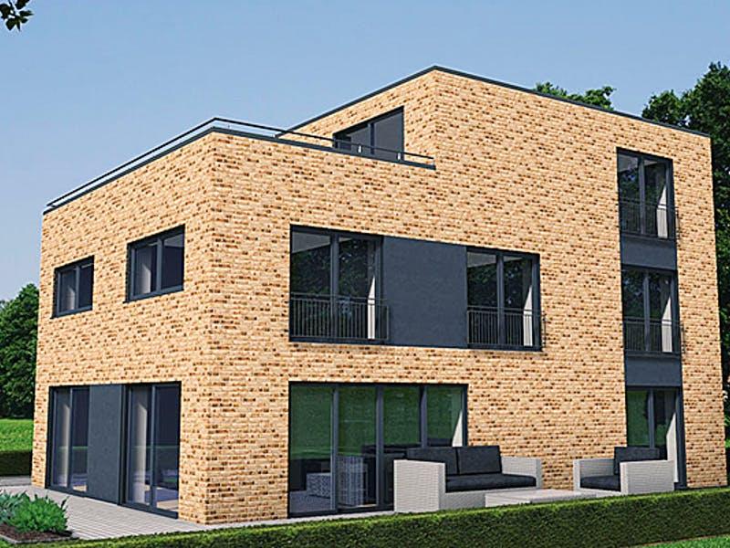 Massivhaus mit Klinkerfassade von IM.Designhaus