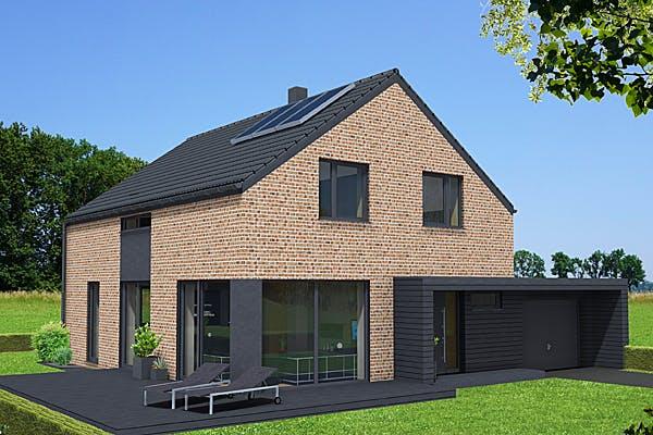 Massivhaus mit Satteldach von IM.Designhaus