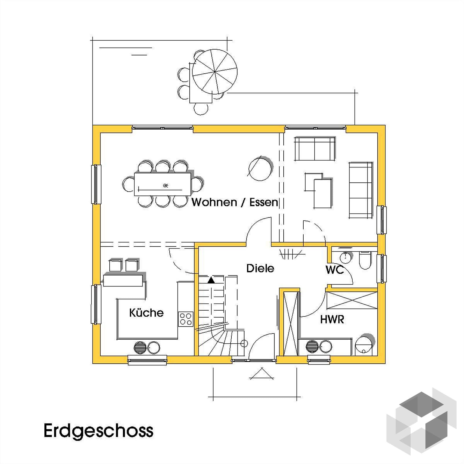 imke 2 kfw effizienzhaus 40 von dammann haus komplette daten bersicht. Black Bedroom Furniture Sets. Home Design Ideas