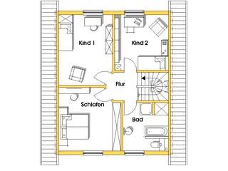 Imke (KfW-Effizienzhaus 40) von Dammann-Haus Grundriss 1