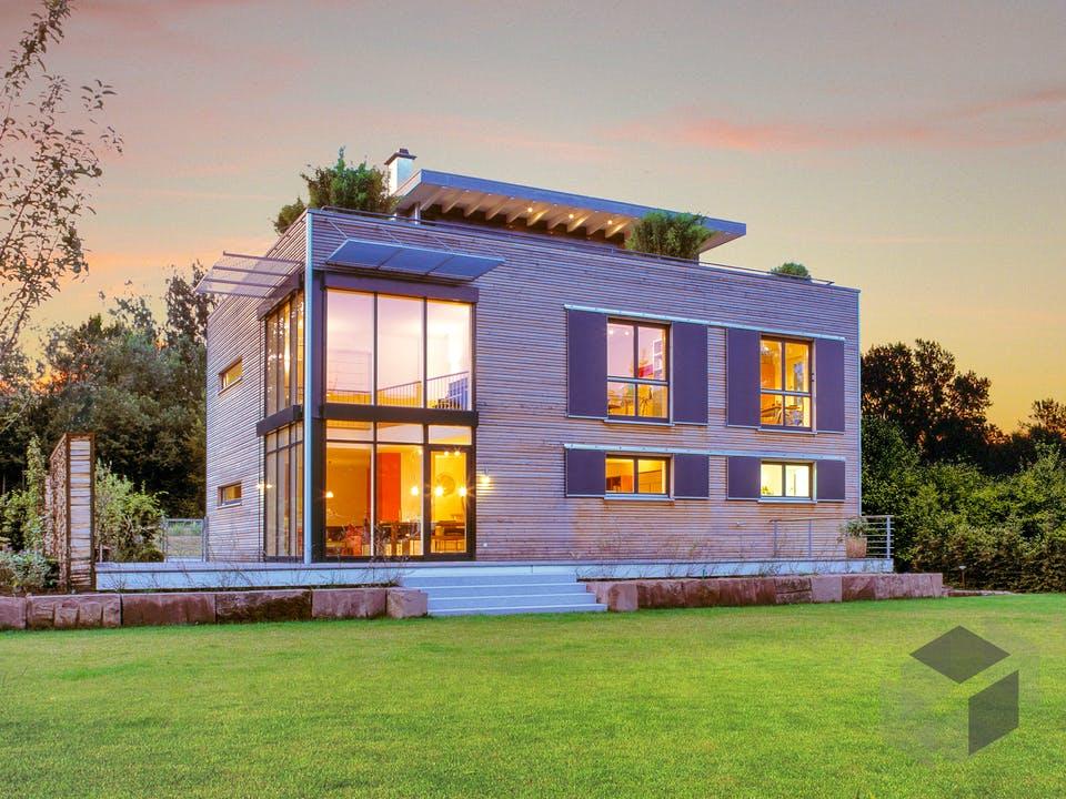 Individuelle Planung Modern Living von Baufritz Außenansicht