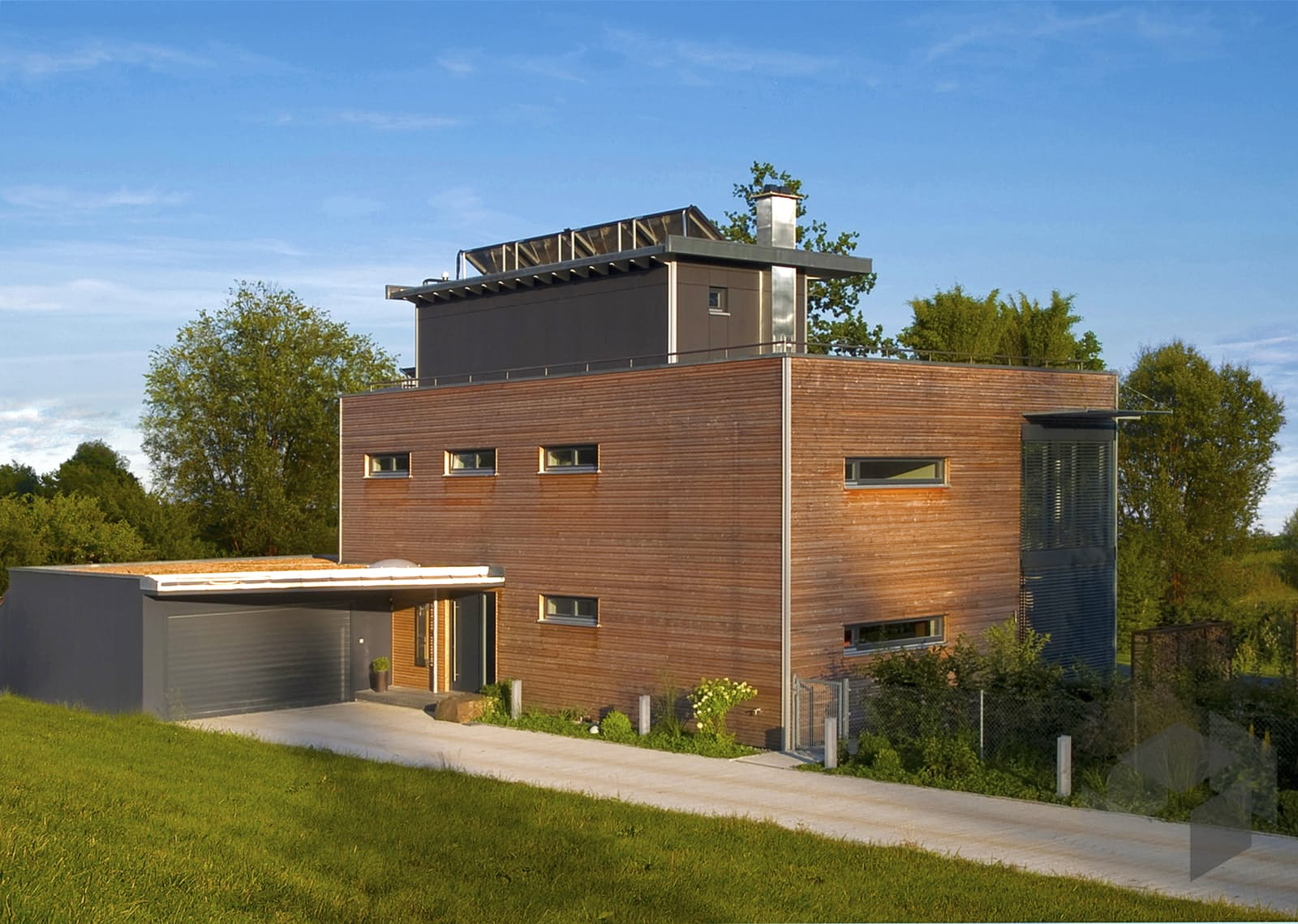 Individuelle planung modern living von baufritz for Fertighaus modern