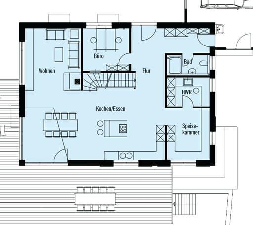 individuelle planung modern living von baufritz. Black Bedroom Furniture Sets. Home Design Ideas