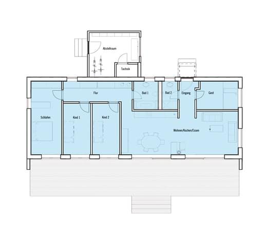 Individuelle Planung Moderner Bungalow  (KfW-Effizienzhaus 70) floor_plans 0